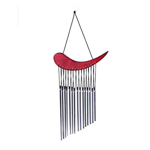 SevenMye Windspiel aus massivem Holz für den Außenbereich Metallhörner super Mehrrohr-Windspiel als kreatives Geburtstagsgeschenk hängende Dekoration für Zuhause Garten
