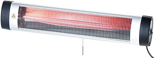 Semptec Urban Survival Technology Terrassenstrahler IR-Heizstrahler mit Thermostat IRW-3000RBL rote Lampe 3000 W IP24 Terrassenheizung