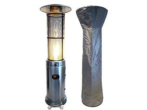 Traedgard Gas Heizstrahler California Edelstahl  180 cm  Heizpilz mit 95 kW  Stufenlose Regulierung  inkl Schutzhülle Gasschlauch und Druckminderer