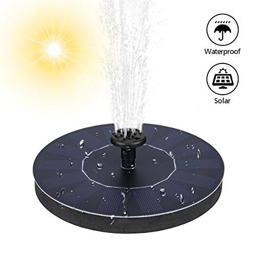 MOHOO Solar Springbrunnen 7V 14W Solar Teichpumpe wasser schwimmende Solar Wasserpumpe freistehende Pumpe für Garten Wasserspiele kleiner Teich Vogel Bad etc