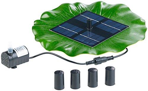 Royal Gardineer Solar Teichpumpen Schwimmender Solar-Teich-Springbrunnen mit Pumpe und 4 Düsen Solarbrunnen