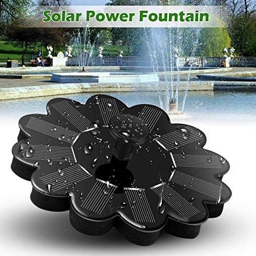 Solar Brunnenpumpe Solar Springbrunnen Schwimmend Teichpumpe Solar Fontäne für Gartenteich Fisch-Behälter kleiner Teich