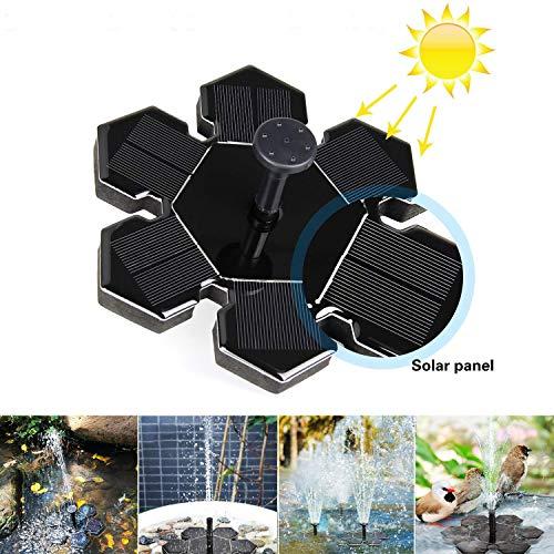 Solar-Springbrunnen AngLink Solar-Teichpumpe mit 15 W Solar Panel Schwimmende Fontäne für Gartenteich Vogel-Bad Fisch-Teich Kleinen Teich