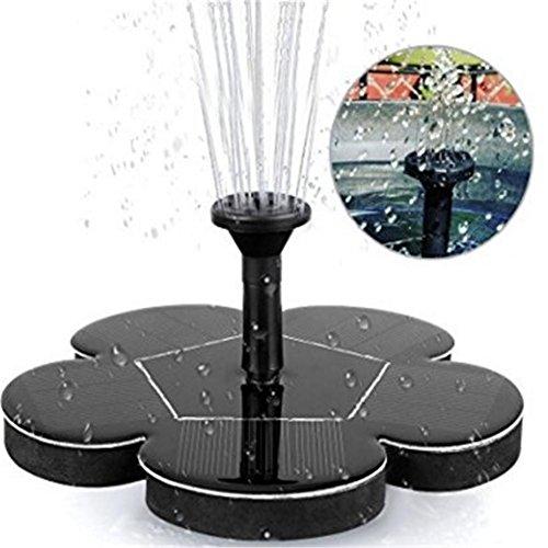 Solar Springbrunnen Solar Teichpumpe Wasserpumpe Solar schwimmender Fontäne Pumpe für Gartenteich oder Springbrunnen Vogel-Bad Fisch-Behälter