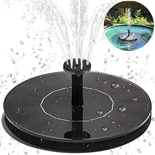 Solar Springbrunnen Yidaxing Solar Teichpumpe Brunnen mit 14W Monokristalline Solar Panel mit 4 Verschiedene Düsen Solar Wasserpumpe Schwimmender Fontäne Pumpe für Gartenteich Vogel-Bad kleiner Teich