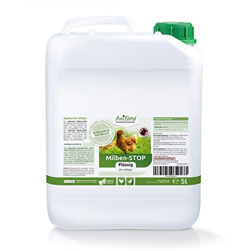 AniForte Milben-Stop Flüssig 5 Liter - Naturprodukt für Geflügel gegen Milben und Parasiten Ideal zum Nachfüllen Milben Stop Spray
