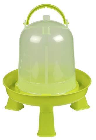Kerbl Kunststoff-Tränke mit Füßen mit Griff und Bajonettverschluss für Geflügel KükenHühnerEnten 80 l