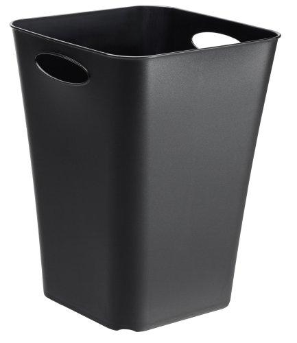 Design-Aufbewahrungsbox Living aus Kunststoff PP universell einsetzbar auch als Schirmständer oder Geschenkpapier-Organizer 23 l ca 295 x 295 x 395 cm LxBxH schwarz