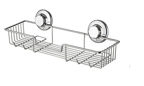 SANNO Bad Regal Aufbewahrung Organizer kein Schäden Saugnapf multifunktionale Combo Korb Küche und Bad Accessories-rustproof Edelstahl Metall Dusche Caddy