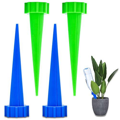 FEIGO Wasserspender für Zimmerpflanzen Automatisch Bewässerungssystem 4 Stück Keramik Spikes Wasserspender für Topfpflanzen Bonsai Pflanzen Blumen auf Balkon