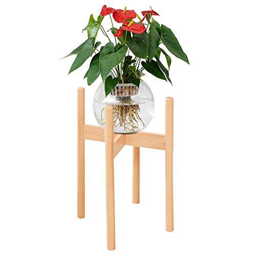 Gereton Europäischen Stil Buche Blume Stehen Holz Einzigen stehender Kreativität Blumentopf Display-ständer Topfpflanzen Montage Für Indoor Outdoor