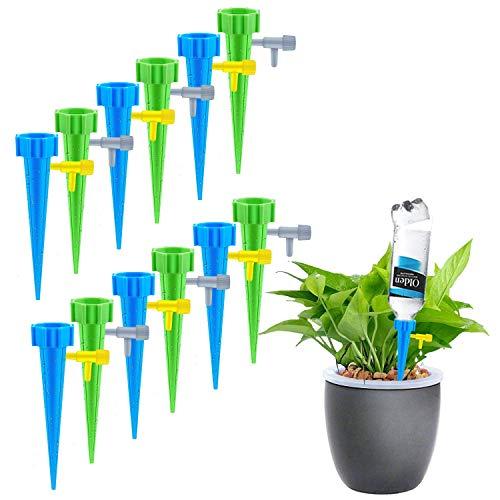 LongcMall Automatische Bewässerung 12er Set Keramik Wasserspender für Topfpflanzen Bonsai Pflanzen Blumen