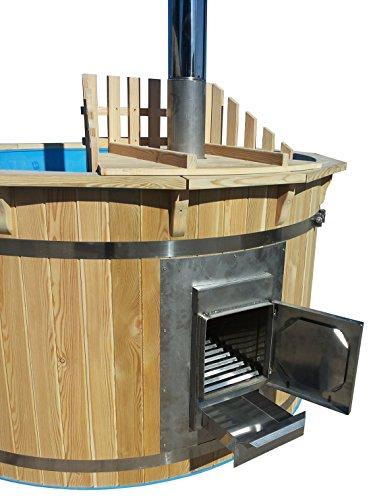 Hottub Badezuber mit Ofen Sauna Gartensauna Badefass NEU 180 cm