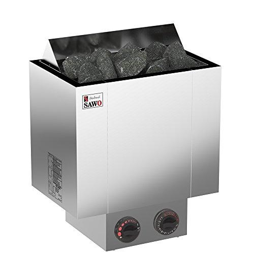SAWO NORDEX 2017 Elektrische Saunaofen Leistungsbereich 45 kW 60 kW 80 kW 90 kW mit integrierte Steuerung NB-Modell Multispannung entweder Einphasig oder 3-Phasig Edelstahl