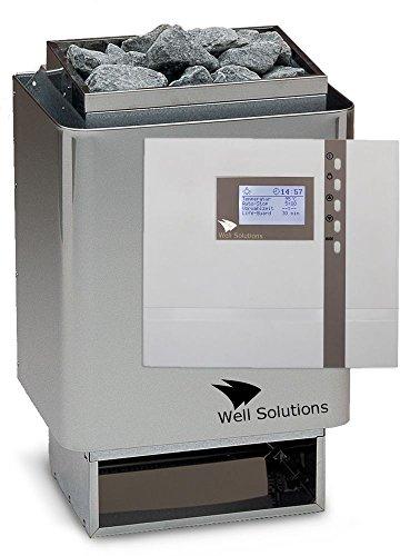 Well Solutions Edelstahl Sauna Ofen 34A 75 kW mit Premium Steuerung D2  Saunatechnik Made in Germany