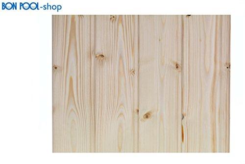 BON POOL Profilholz nordische Fichte Saunaprofil Holz 1m