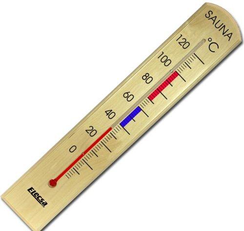 Sauna Thermometer aus Holz Modell ELECSA 9225