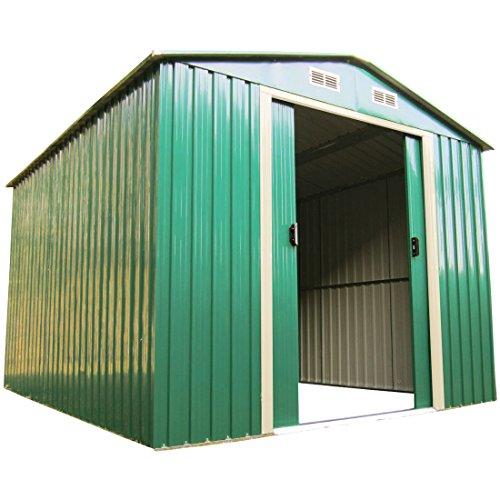 Gartenhaus Geräteschuppen 53m² aus verzinktem Stahlblech Metall grün von AS-S