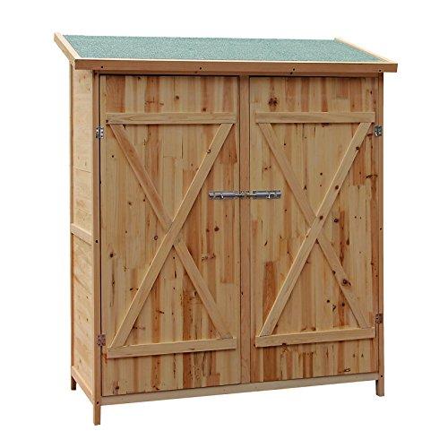 Wiltec XXL Holz Gerätehaus Geräteschuppen Gartenschrank Geräteschrank Gartenhaus