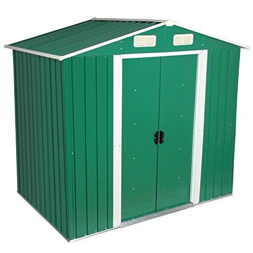 Zelsius - Gerätehaus Geräteschuppen mit Giebeldach 204 x 130 cm grün