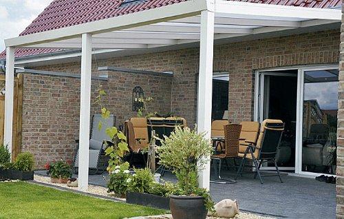 ALU Terrassenüberdachung 600x350cm wahlweise in 3 Farben Montagefertig Überdachung Vordach Überdachung Aluminium Terrasse