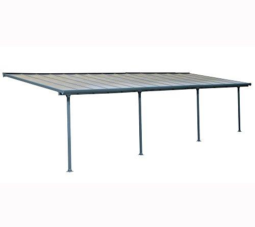 Hochwertige Aluminium Terrassenüberdachung Terrassendach 300x1092 cm TxB - grau