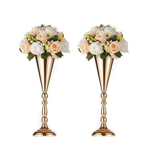2-teilige Blumenständer aus Metall Hauswand  TV Schrank gefälschte Blumenvase Hochzeit  Party Empfangstisch Blumen Dekoration