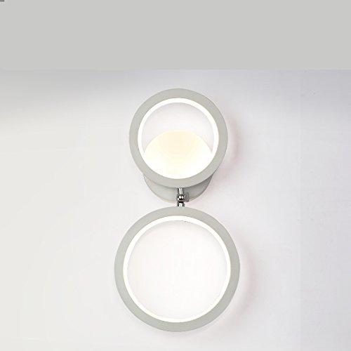 QIANGQIGeführte Nachttischlampe einfache kreative moderne Wohnzimmer TV Schrank Wand Lichter Gang Beleuchtung Zimmer Schlafzimmer rotierende Wandleuchte