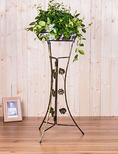 GAOWUFENGYL Blumenregal Boden - Typ Eisen Blumentöpfe Regal Europäische Einfache Balkon Wohnzimmer Pflanzenregale Versammlung für Blumen Farbe  A Größe  33cm22cm78cm