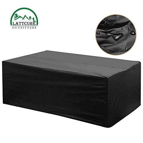 LATTCURE Gartenmöbel Abdeckung Gartentisch Hülle für Gartenmöbel-Sets Wasserdicht UV-Schutz 213  132  74cm