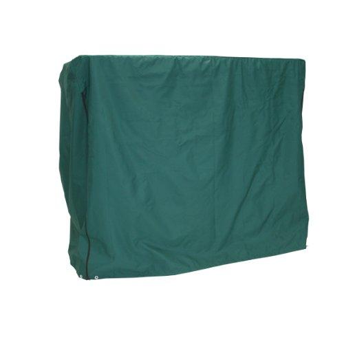 greemotion Schutzhülle für Hollywoodschaukel grün wasserabweisende Schutzplane für Gartenbänke Wetterschutzplane aus strapazierfähigem Polyester