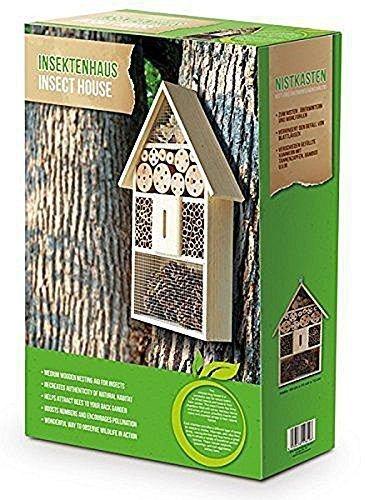 Eifa XXL 50 cm Insektenhotel NaturNistkasten Insektenhaus aus Holz für Bienen Schmetterlinge Käfer andere Tiere