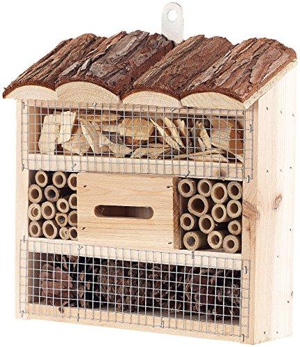 Royal Gardineer Bienenhotel Insektenhotel Marie Nistkasten für Nützlinge 20 x 20 x 7 cm Insekten-Hotels