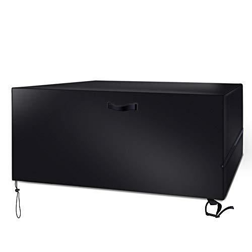 YoungBee Gartenmöbel-Abdeckungen für Tisch und Stühle 420D Oxford-Gewebe wasserdicht staubdicht und schneefest Winddicht 250 x 150 x 80 Schwarz 250 x 150 x 80 cm