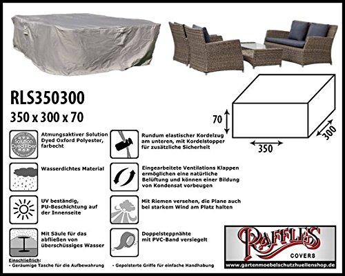Raffles Covers Abdeckung für Lounge-Sets 350 x 300 cm Gartenmöbel Lounge Möbel Set Schutzhülle Hülle Haube Plane Abdeckung Abdeckplane für Lounge Set