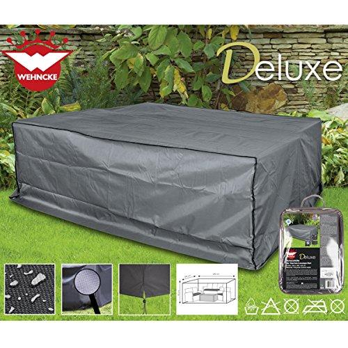 Deluxe Schutzhülle für Garten-Lounge-Set 240x200cm Polyester 420D - Sitzgruppe Gartenmöbel Schutz Hülle Abdeckung Lounge Möbel Plane