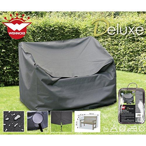 Deluxe Schutzhülle für Gartenbänke 160x75cm Polyester 420D - Garten Bank Gartenmöbel Schutz Hülle Abdeckung Tragetasche Plane