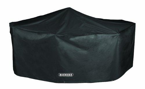 Bosmere Storm Black rechteckige Schutzhülle für 6-Personen Sitzgruppe