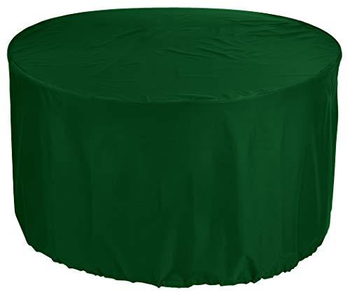 KaufPirat Premium Abdeckplane Rund Ø 250 x 90 cm Tannengrün Gartenmöbel Gartentisch Abdeckung Schutzhülle Abdeckhaube Outdoor Round Patio Table Cover