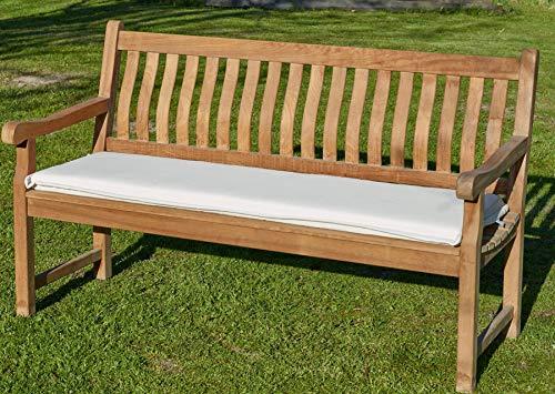 Bankpolster Destiny 180 cm  NATUR  Kissen Auflage für Gartenbank Bank Polster