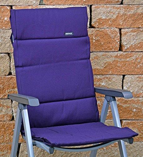 4 Hochlehner Auflagen 123 x 50 x 3 cm Madison Fiber de luxe Structure Purple lila Gartenpolster ohne Sessel