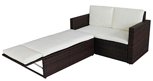 SVITA Poly Rattan Lounge Gartenset Sofa Garnitur Polyrattan Gartenmöbel Braun