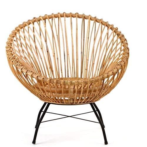 animal-design Rattanstuhl SANTIKA 60000 Korb-Stuhl oval Retro Vintage Sessel Lounge Esszimmer Küche Bistro Balkon Terrasse