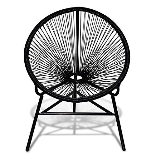 vidaXL Stuhl Poly Rattan Lounge Sessel Gartenstuhl Esszimmerstuhl Korbsessel