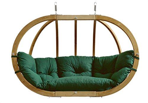 AMAZONAS Hängesessel in edlem Design Globo Royal Chair Green weatherproof Mehrpersonen bis 200 kg in Grün