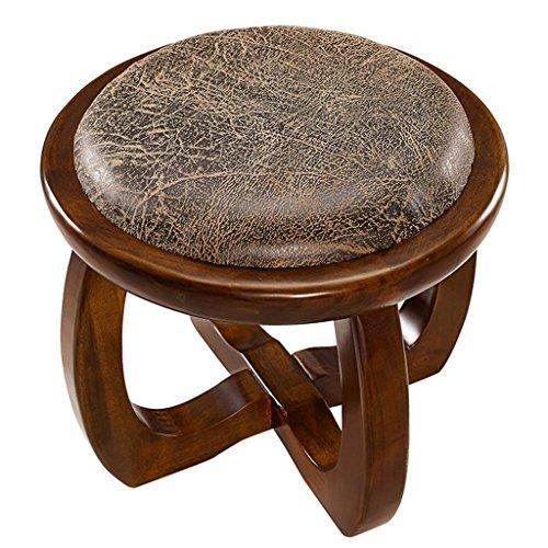 Alle Stühle Kreativer Hocker Moderner Mode-Kleiner Hocker Massivholz-Hocker Sofa-Hocker Leder-Hocker für Schuh-Hocker Mode-Hocker