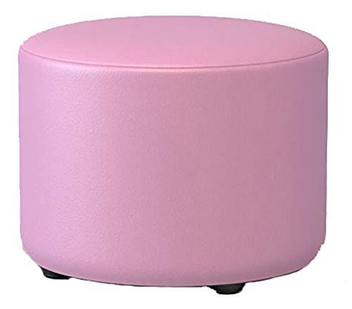 JDZ Round Pink Fashion Schuhe Hocker Hocker Massivholz Hocker Hocker Leder Kunst Sofa Hocker Couchtisch Hocker 29 X 29 X 20 cm Länge X Breite X Höhe von SHOME