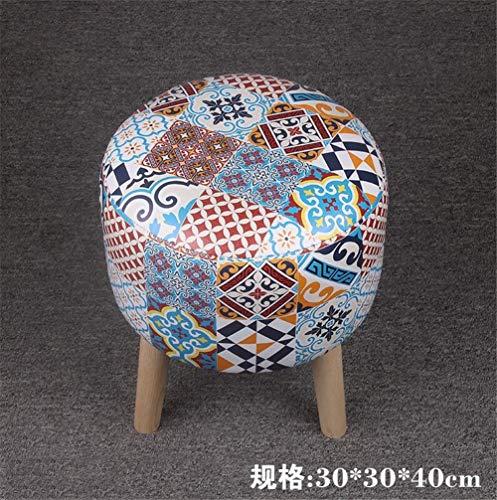Kinder Hocker Kleiner Hocker Europäischen Haushalt Einzel Kreative Sofa Hocker Leder Hocker Runde Kinder Persönlichkeit Ändern Schuhe Hocker Farbe  B