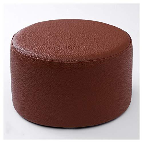 XiuXiu Hocker Moderne Kunst-Erwachsene Kinder Leder Home Sofa Round Hocker Low Hocker Schuhe Bank Color  Brown
