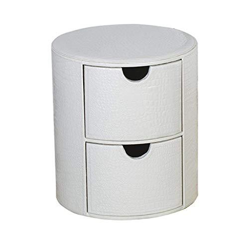 YINUO Stühle Kreative Einfache Leder Schublade Lagerung Lagerung Hocker Runde Leder NachttischNachttisch